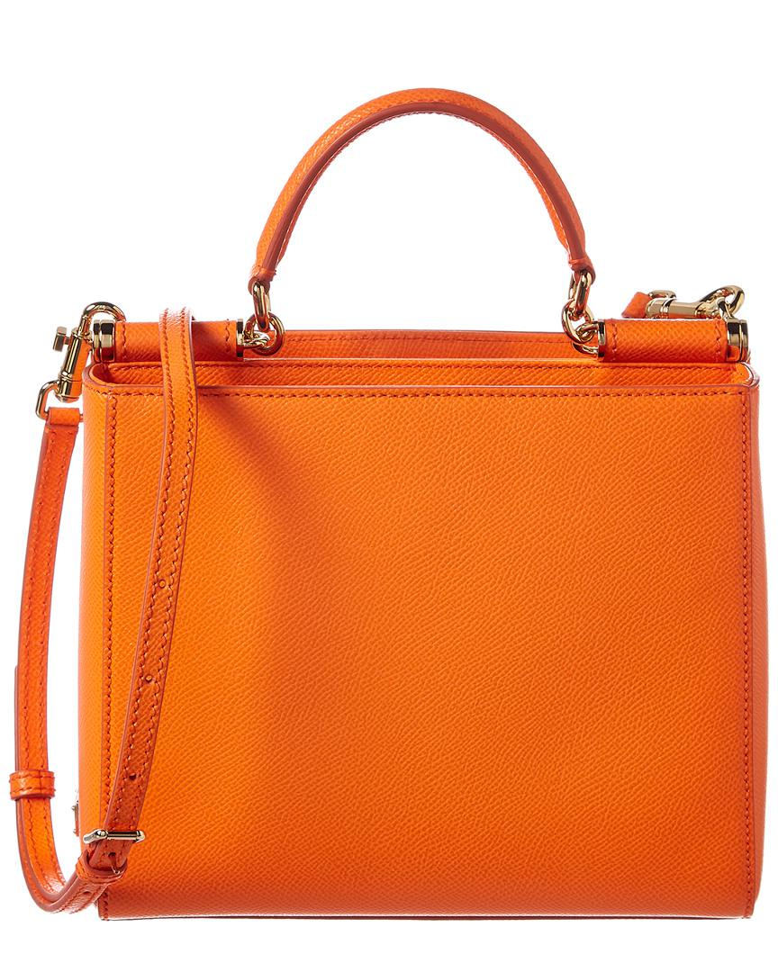 6dab4c18398c Lyst - Dolce   Gabbana Sicily Leather Tote in Orange