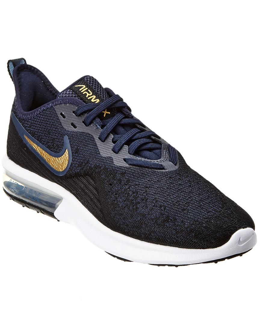 6a4c9786164 Lyst - Nike Air Max Sequent 4 Mesh Sneaker in Blue