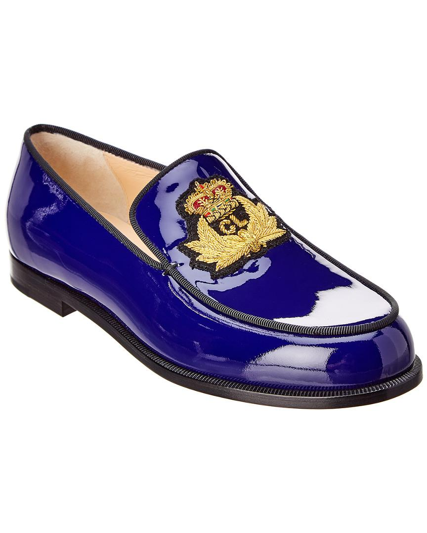 616daf3227ba Christian Louboutin Laperouza Patent Loafer in Blue for Men - Lyst