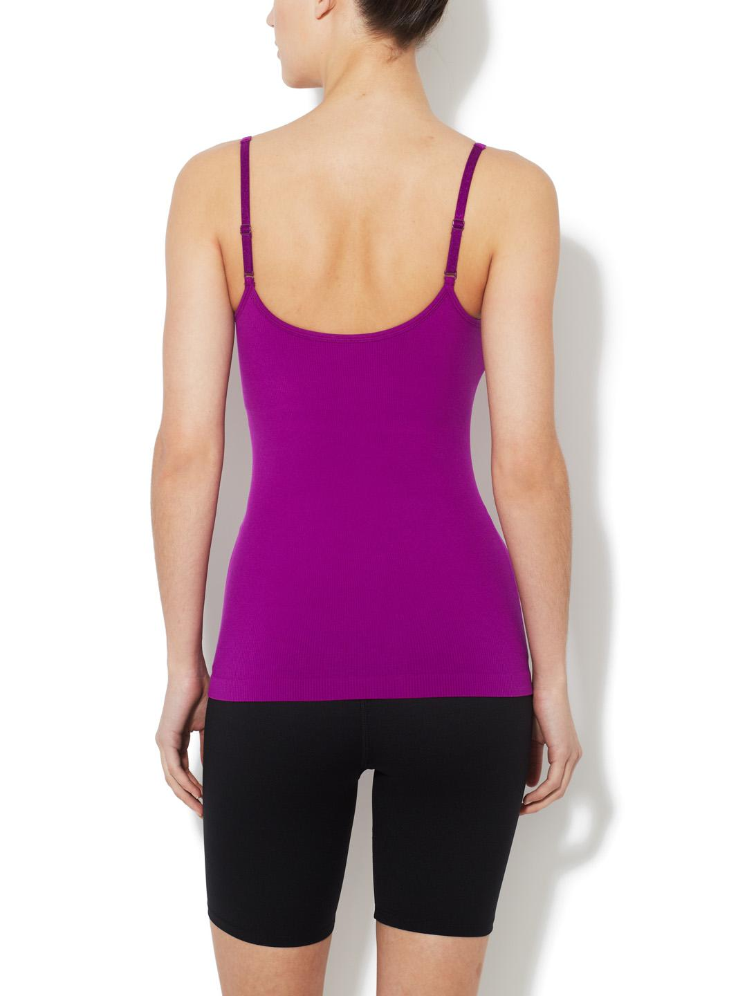 e8aa1dc89d Lyst - Spanx Ribbed Cami With Shelf Bra in Purple