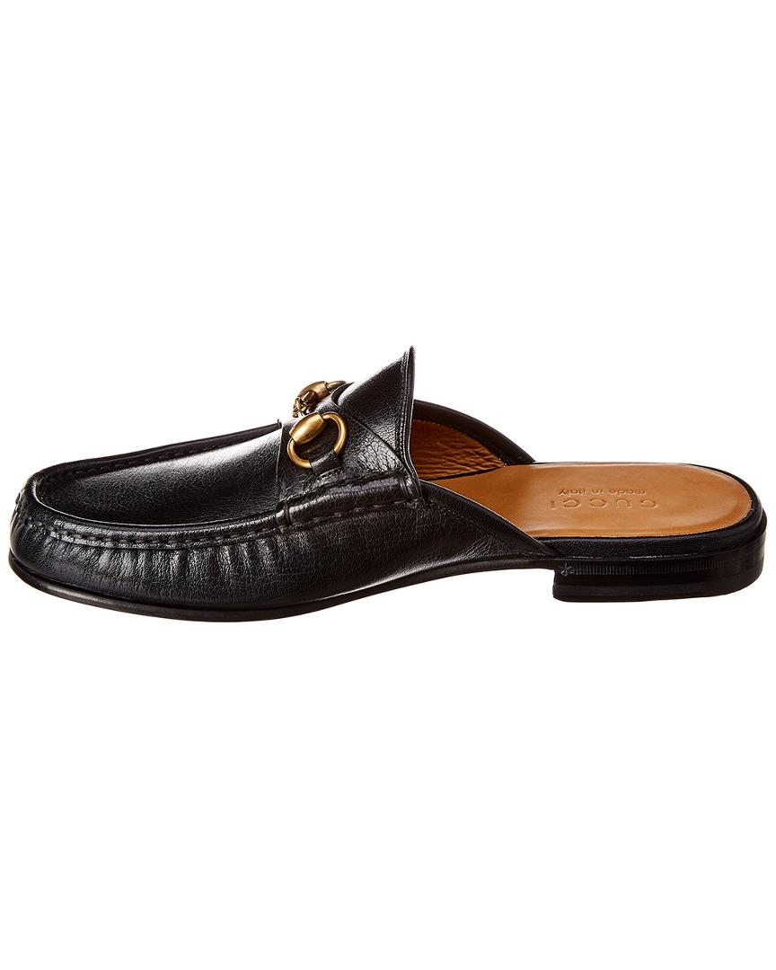 27a3373e1 Gucci Horsebit Leather Slipper in Black for Men - Lyst
