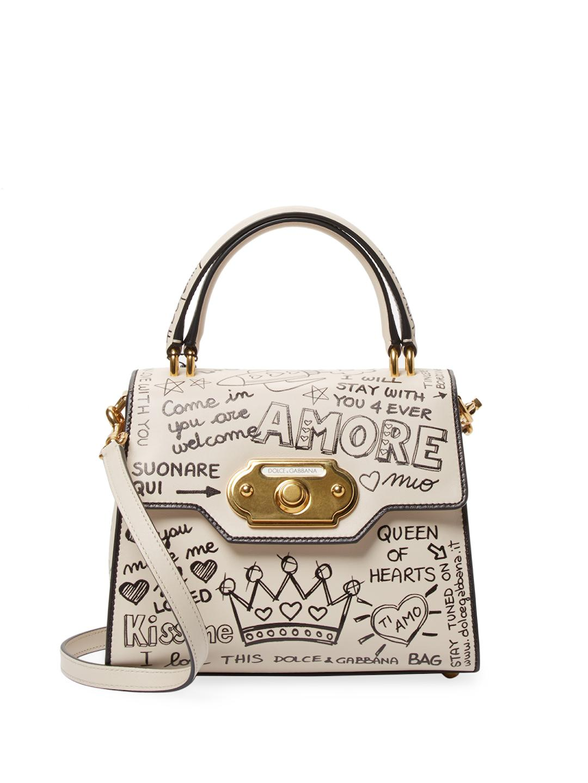 b2f44841059b Lyst - Dolce   Gabbana Sketch Print Satchel Bag
