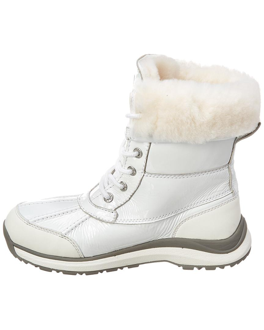 322659099b9 UGG Women's Adirondack Iii Waterproof Patent Boot in White - Lyst