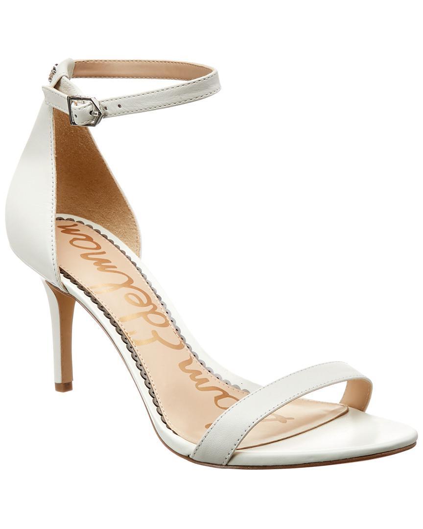 1353d2befd454f Sam Edelman Patti Leather Sandal in White - Lyst