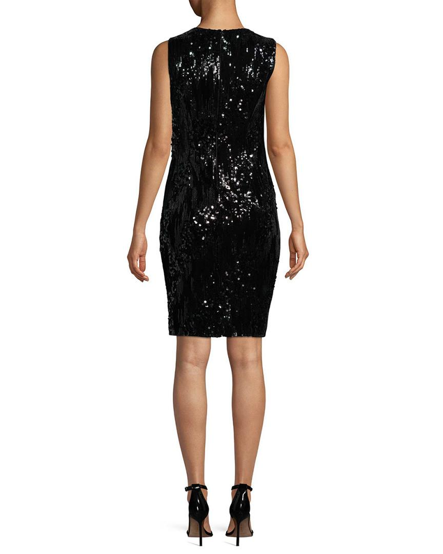 f881a60b8455 Lyst - Carmen Marc Valvo Infusion Jewel Sheath Evening Gown in Black - Save  31.746031746031747%