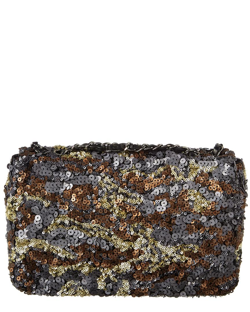 62d5f87b71c2 Chanel Limited Edition Multicolor Sequin Half Flap Bag - Lyst