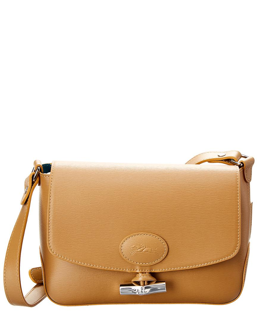 09bbd885669b Longchamp Roseau Leather Crossbody in Brown - Lyst