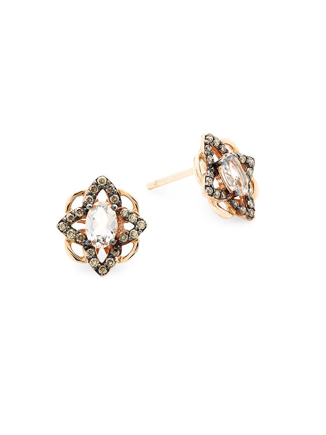 Gallery Previously Sold At Gilt Women S Diamond Earrings Le Vian Chocolate