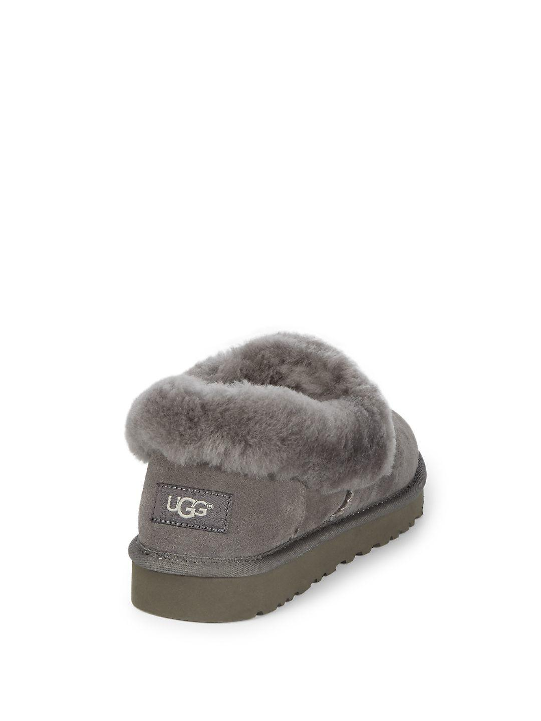 0ef4295a6bd Lyst - UGG Nita Leather Slippers in Gray
