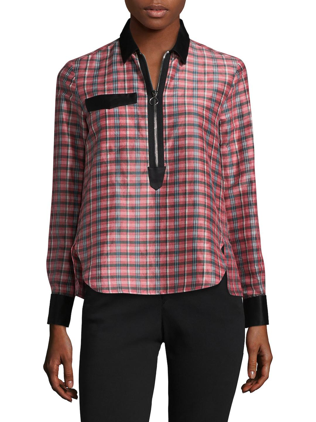 Isabel Marant Woman Mista Plaid Ramie And Silk-blend Top White Size 42 Isabel Marant Buy Cheap 2018 Sale Online pOcjUPoz8K