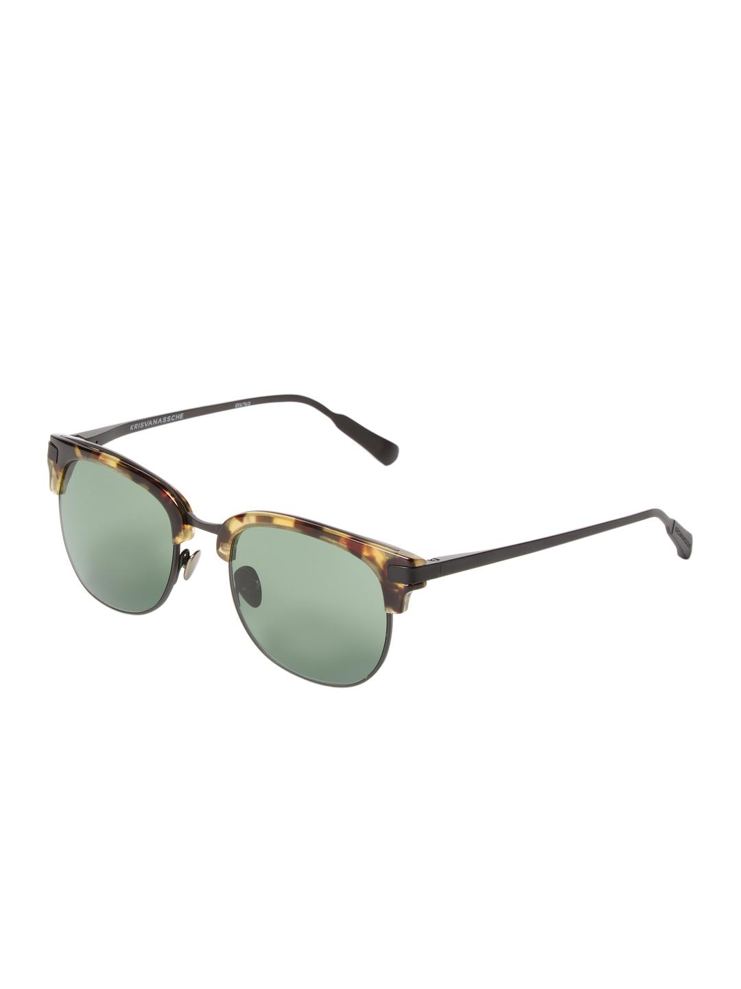 5ff8a12e24 Lyst - Kris Van Assche Padded Tinted Clubmaster Frame in Brown