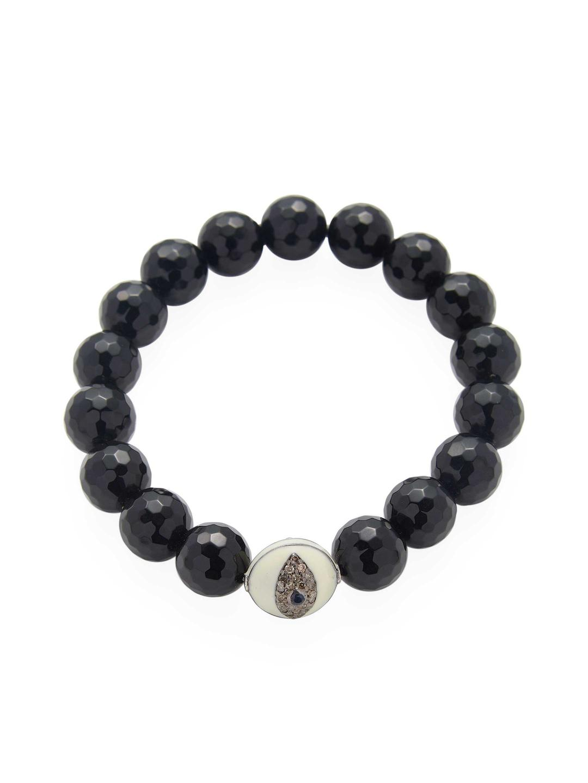 Bavna Amethyst Stretchy Bead Bracelet 7LXfDdOi83