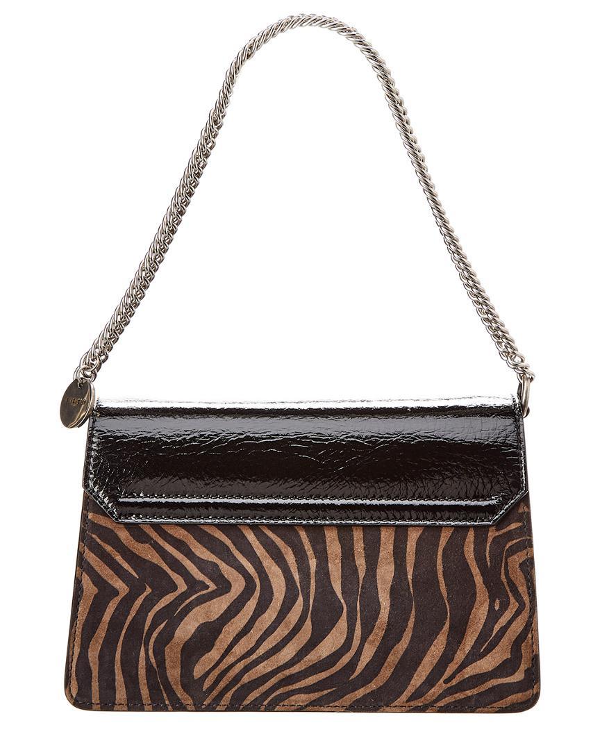9a71cbf1a71b Lyst - Givenchy Black G3 Zebra Print Patent Leather Bag in Black - Save  18.485436893203882%