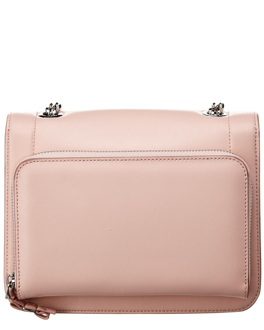 bc772902c2b8 Lyst - Ferragamo Vara Small Leather Shoulder Bag in Pink - Save 30%