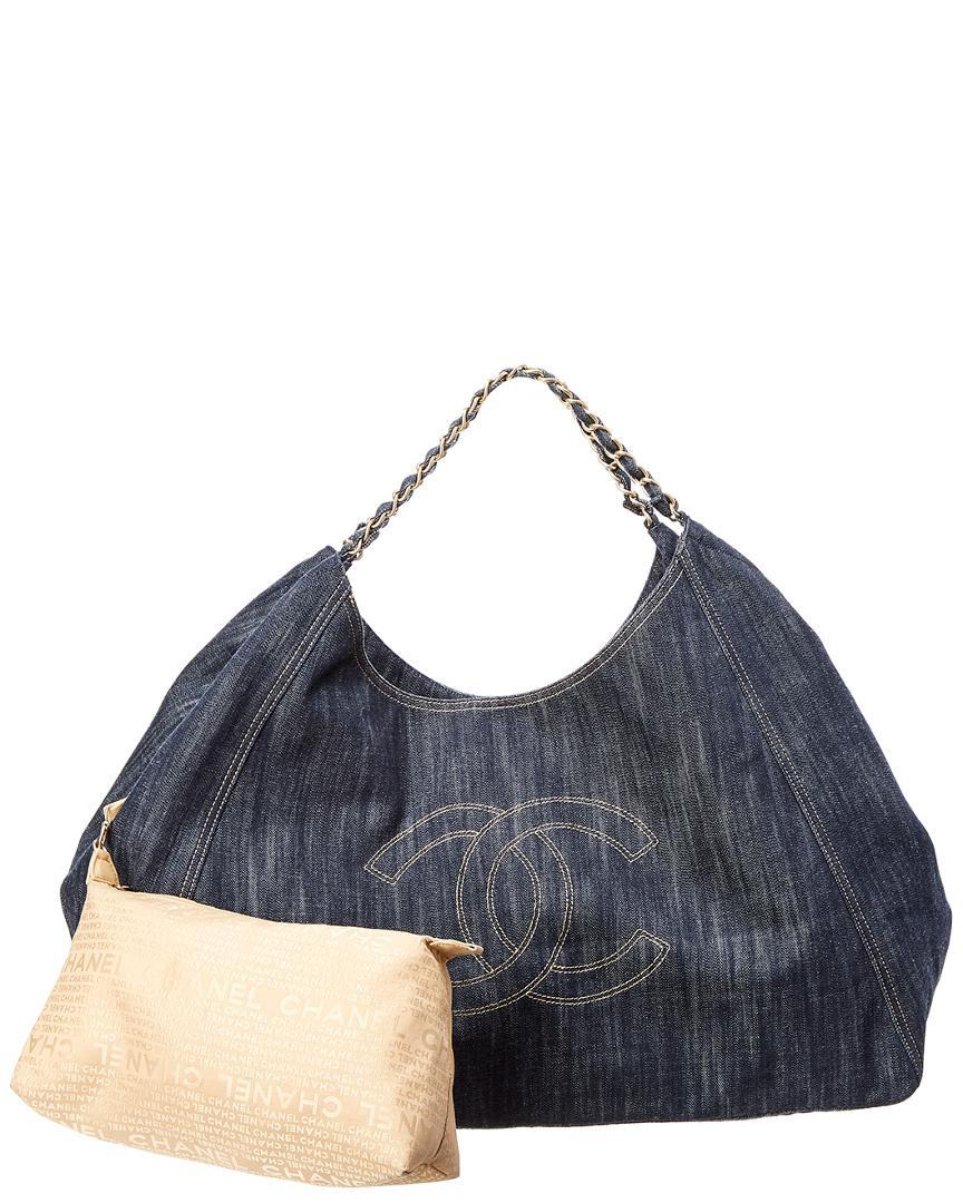 fce2af53991aba Chanel Limited Edition Blue Denim Xl Coco Cabas Bag in Blue - Lyst