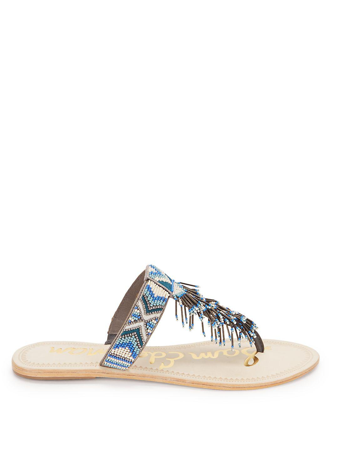 dc4d52dc6f44 Lyst - Sam Edelman Anella Thong Sandals in Pink