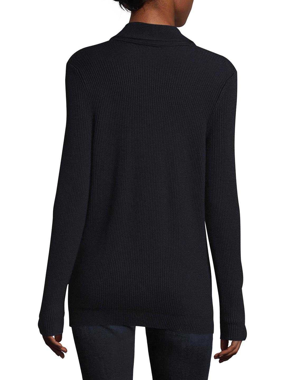 Red valentino Ribbed Sweater Jacket in Blue | Lyst