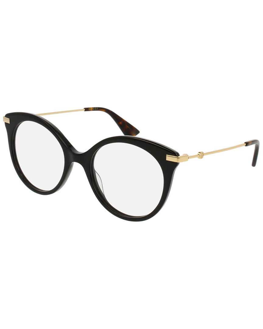 b5728fe92 Gucci Women's 50mm Optical Frames in Black - Lyst