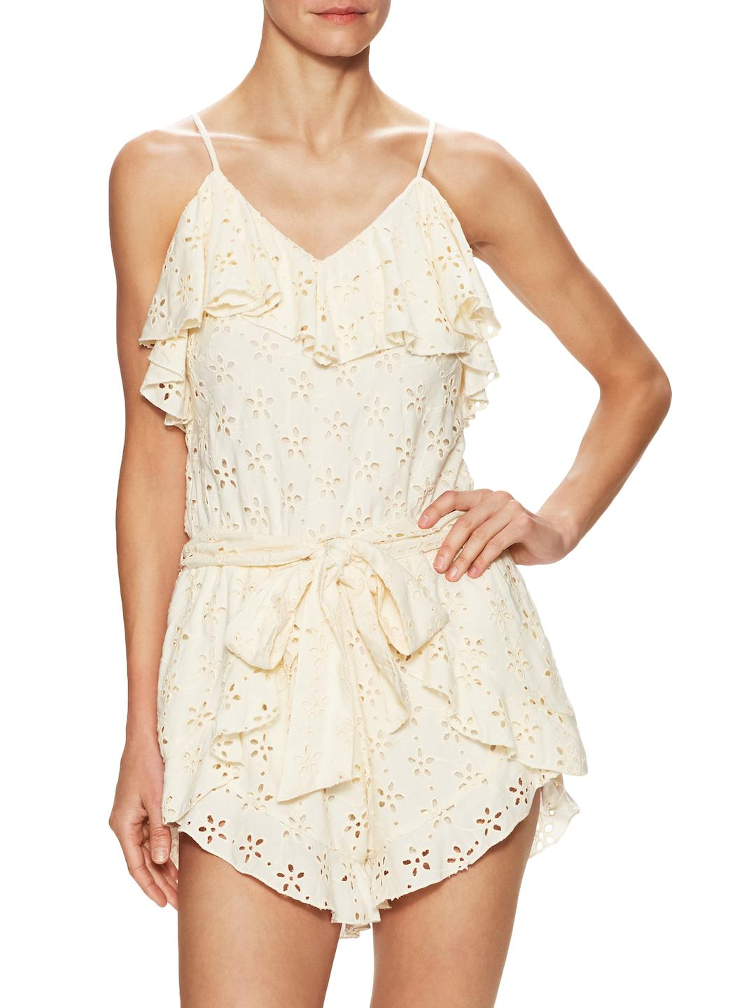 f05bdf968473 Lyst - Winston White Antigua Embroidered Eyelet Romper in Natural