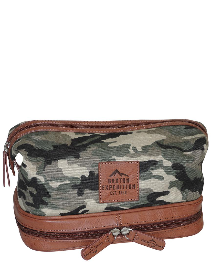 703c0a6265 Buxton Expedition Ii Huntington Gear Bottom Zip Travel Kit for Men ...