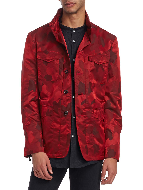 eda19a2b9abf Lyst - John Varvatos Spread Collar Jacket in Red for Men
