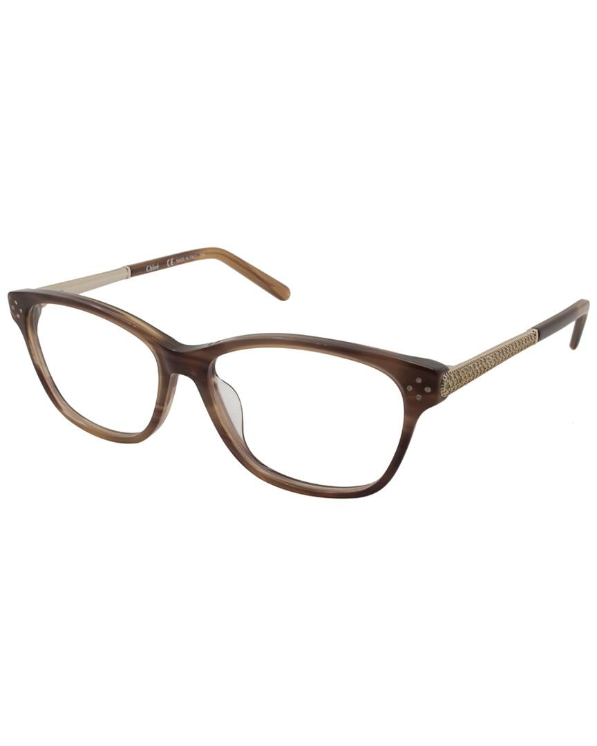 18afaced5557 Chloé Women s Ce2653r 53mm Optical Frames in Brown - Save 1% - Lyst