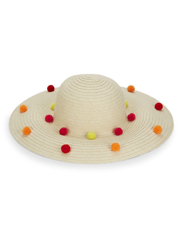 d51faa3f77c97f BCBGeneration Funfetti Pom-pom Sun Hat in Black - Lyst