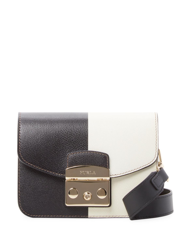 4e72a9b645e3f4 Lyst - Furla Metropolis Leather Crossbody Bag