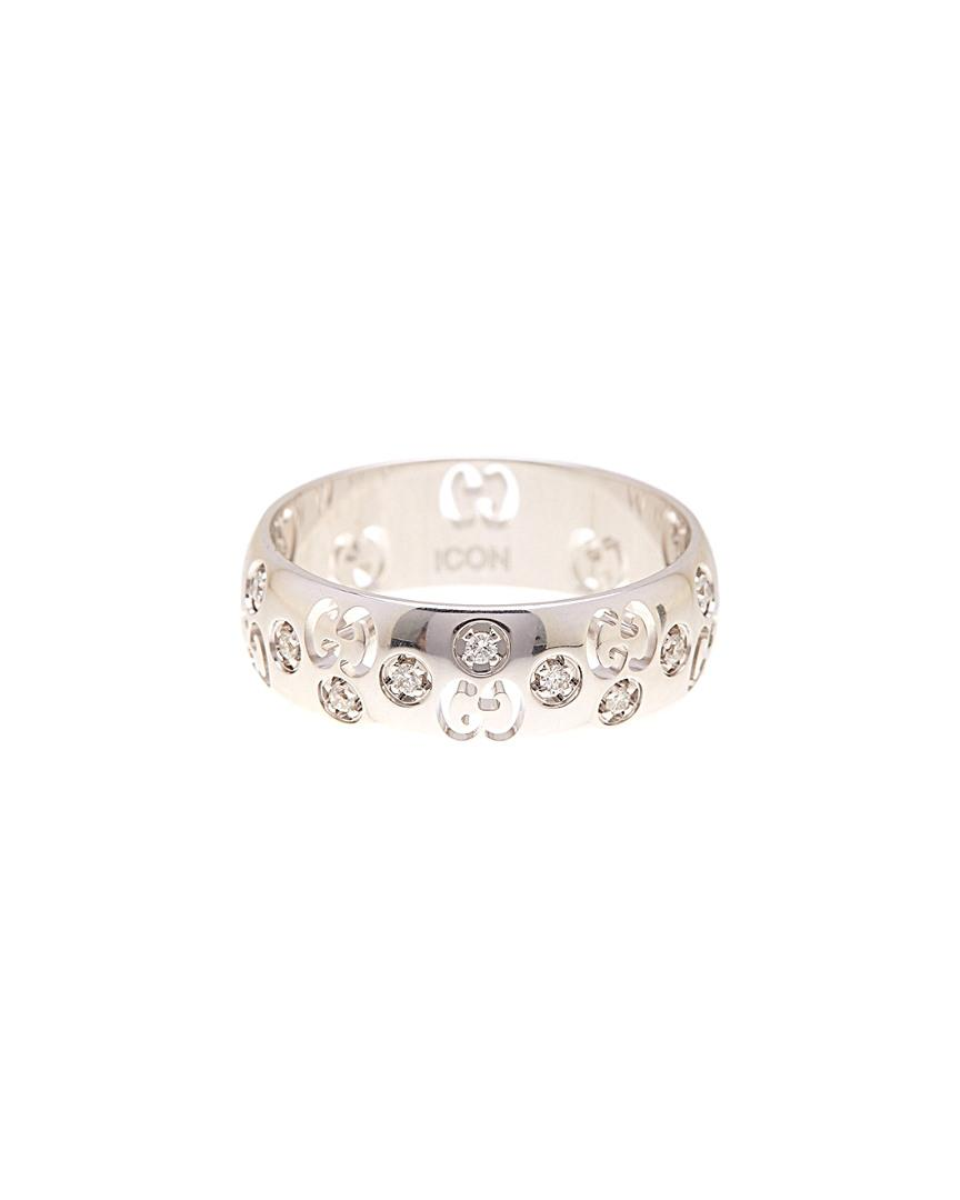 90619712a Lyst - Gucci Icon Bold 18k 0.12 Ct. Tw. Diamond Ring