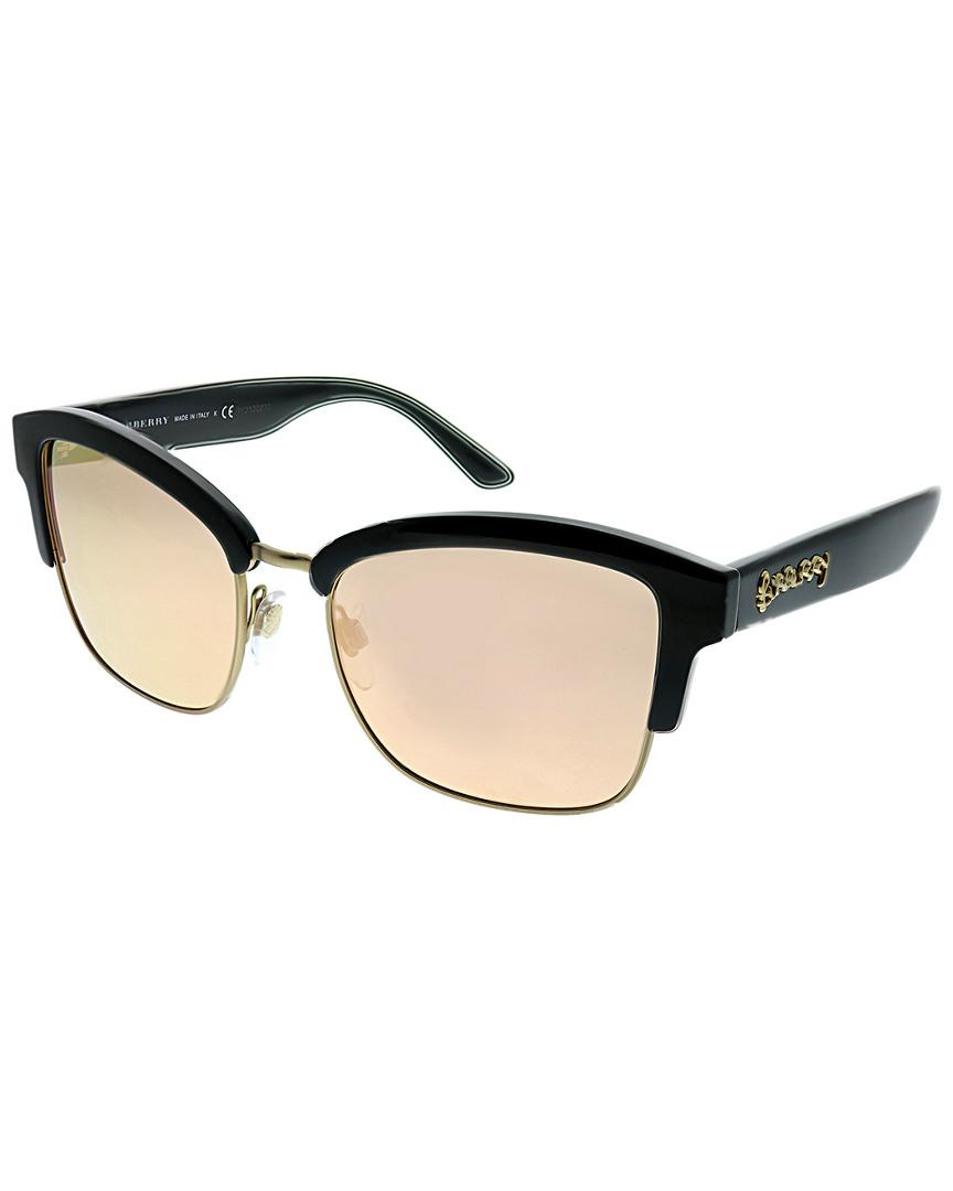f69ceb1229 Burberry Square 54mm Sunglasses - Lyst