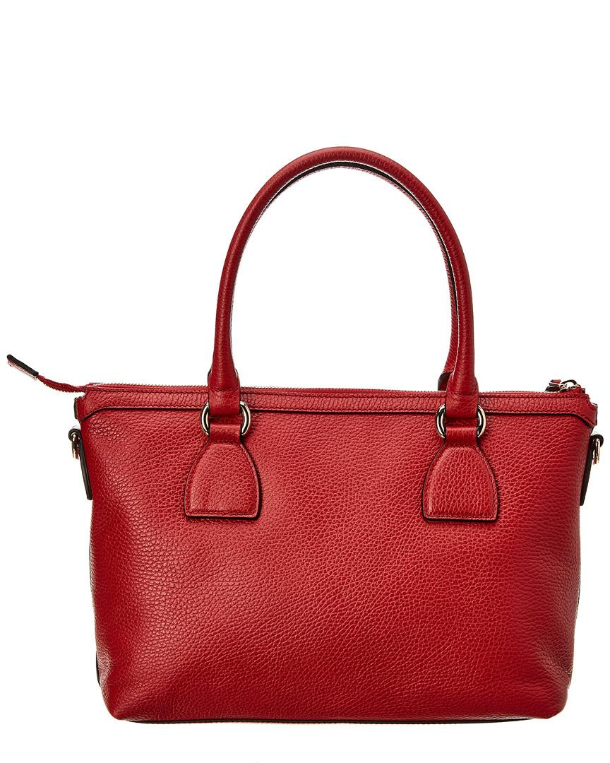Lyst - Gucci Red Leather Tote in Red ee5aa45b5567f