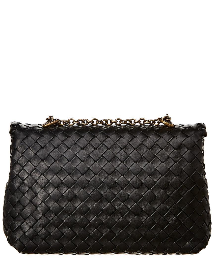 Bottega Veneta Baby Olimpia Intrecciato Leather Shoulder Bag in Black - Lyst 2804c59be9d25
