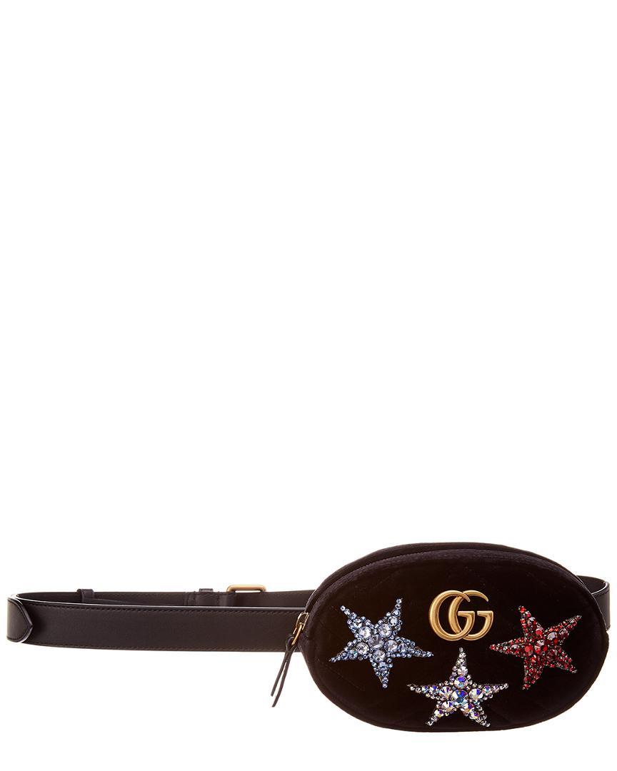 63d9538cd Gucci. Women's GG Marmont Velvet Belt Bag