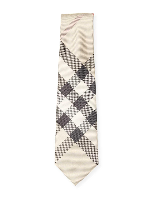 4ee09e8d1468 ... low price lyst burberry plaid silk tie for men ed34c b56c0