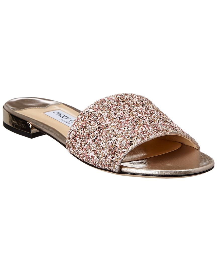 106c907f336 Jimmy Choo Joni Glitter Sandal in Pink - Save 0.31847133757962354 ...