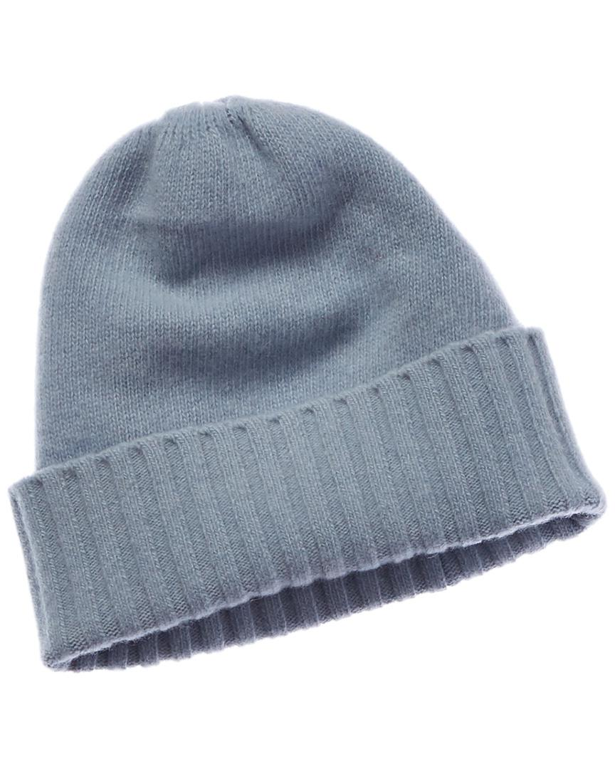 6ad0651c5cab7 Lyst - Portolano Cashmere All Over Ribbed Hat in Blue
