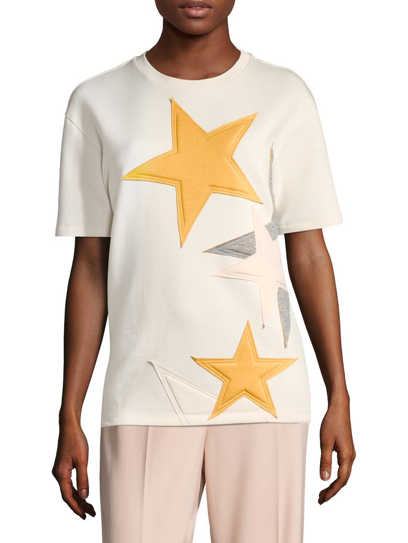 Stella Mccartney Woman Crystal-embellished Printed Stretch-jersey Top Red Size 36 Stella McCartney Cheap Sale With Paypal ilemTGBJrx