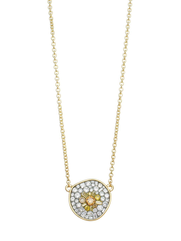 Diamoire Jewels Hankering 18kt Yellow Gold Heart Diamond Pave Pendant AvjTaBZ2