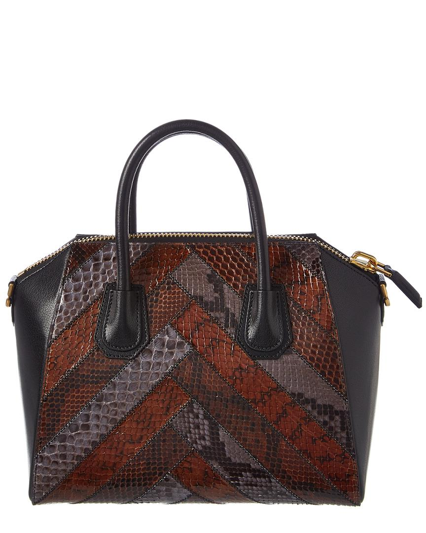 756065537487 Lyst - Givenchy Small Antigona Leather   Python Satchel in Black - Save  11.42857142857143%