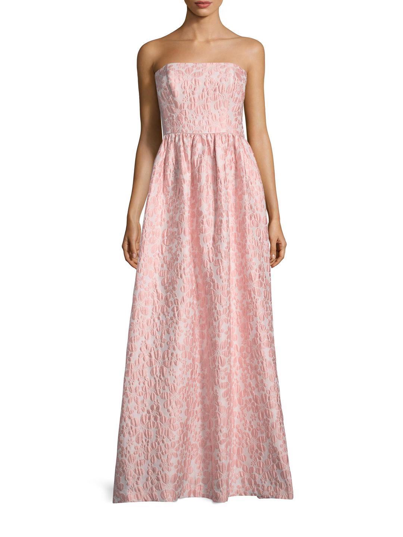 3a49bd8d86 Lyst - Shoshanna Jacquard Flower Maxi Dress in Pink