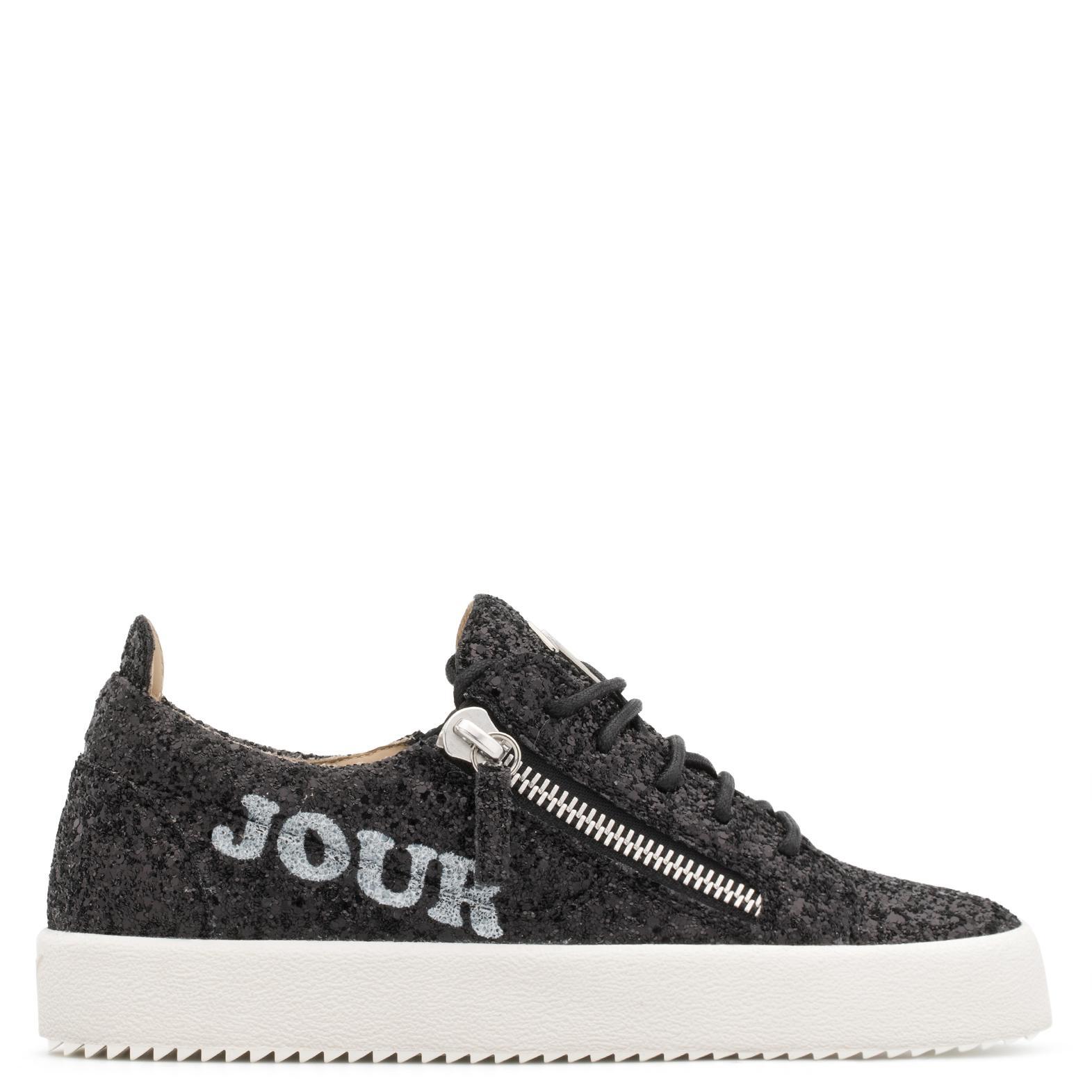 Giuseppe Zanotti Glitter low-top sneaker with 'Bonjour Nuit' motif BONJOUR NUIT UnWkH0i