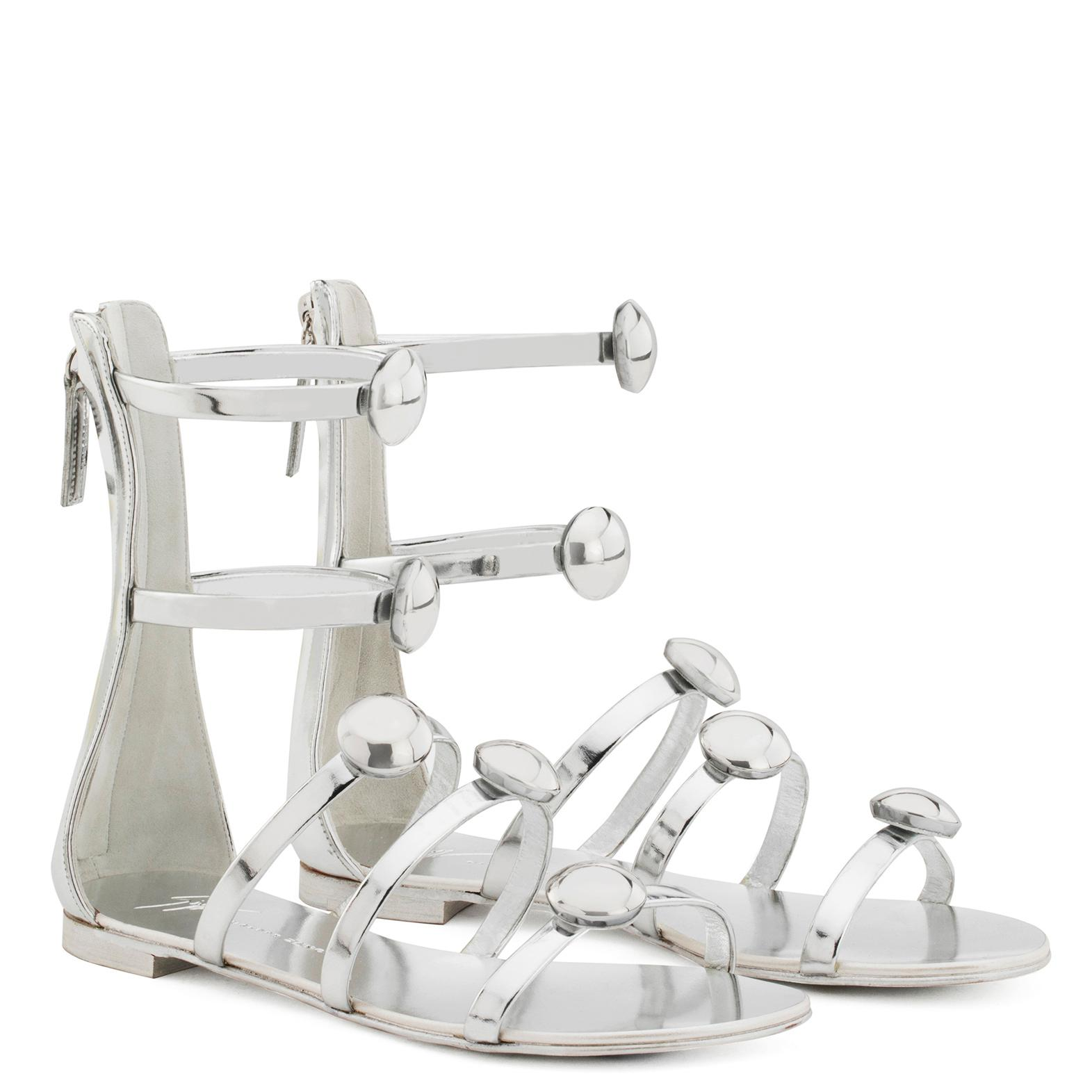 Giuseppe Zanotti Patent leather sandal with straps MICOL LOW 3ldXpN