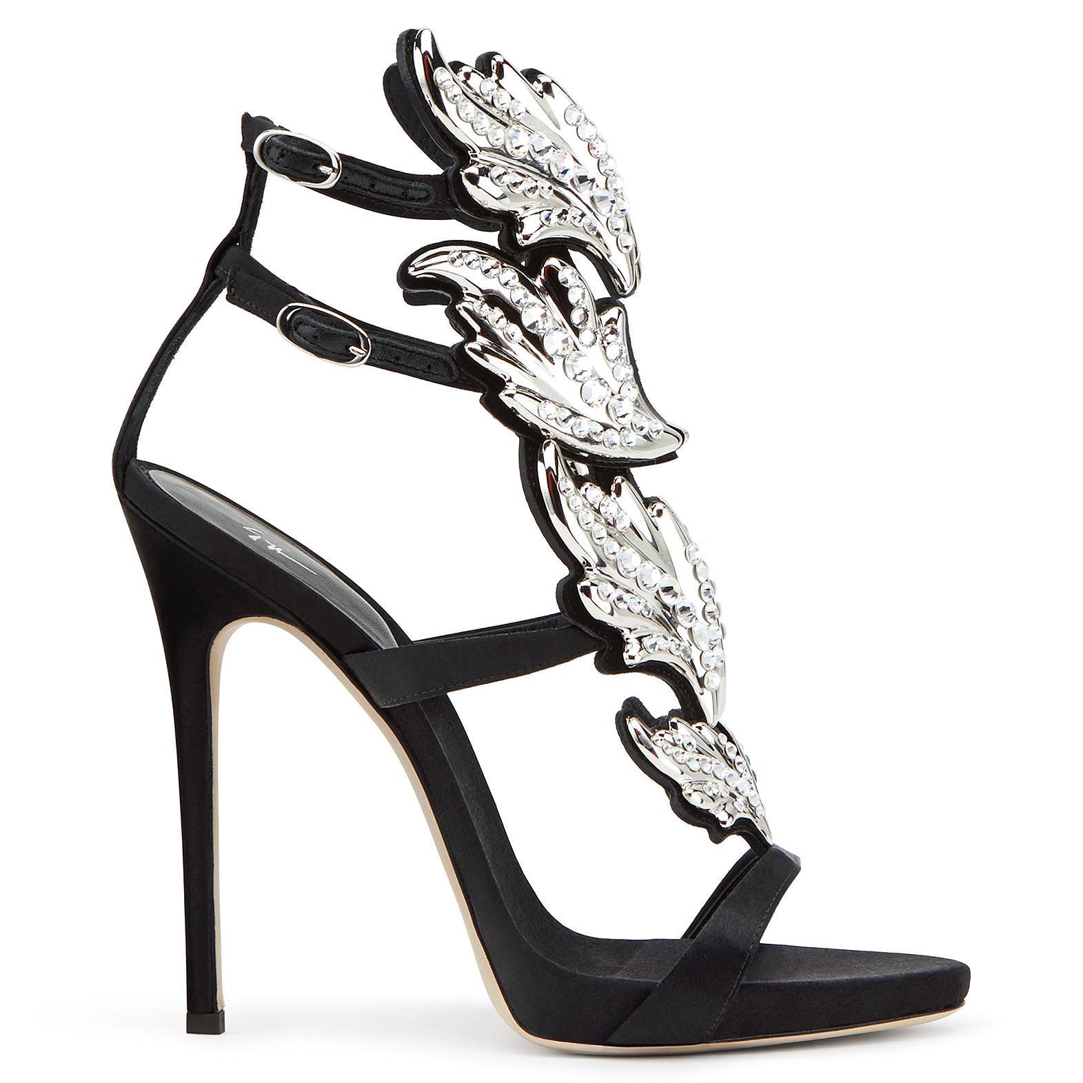 Giuseppe Zanotti Suede 'Cruel' sandal with crystals CRUEL CRYSTAL CFPQVasO