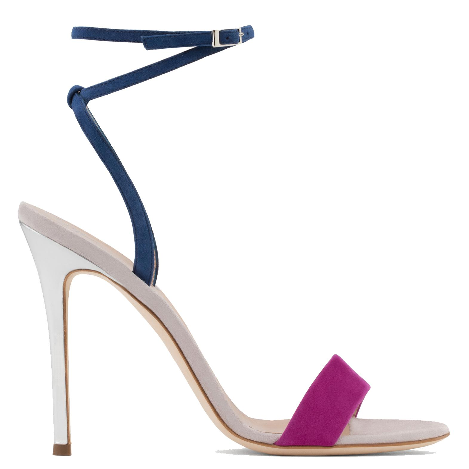Giuseppe Zanotti Blue and purple suede sandal GEORGINA Pictures For Sale Cheap Real Eastbay Buy Cheap Footaction nNJ64CKm