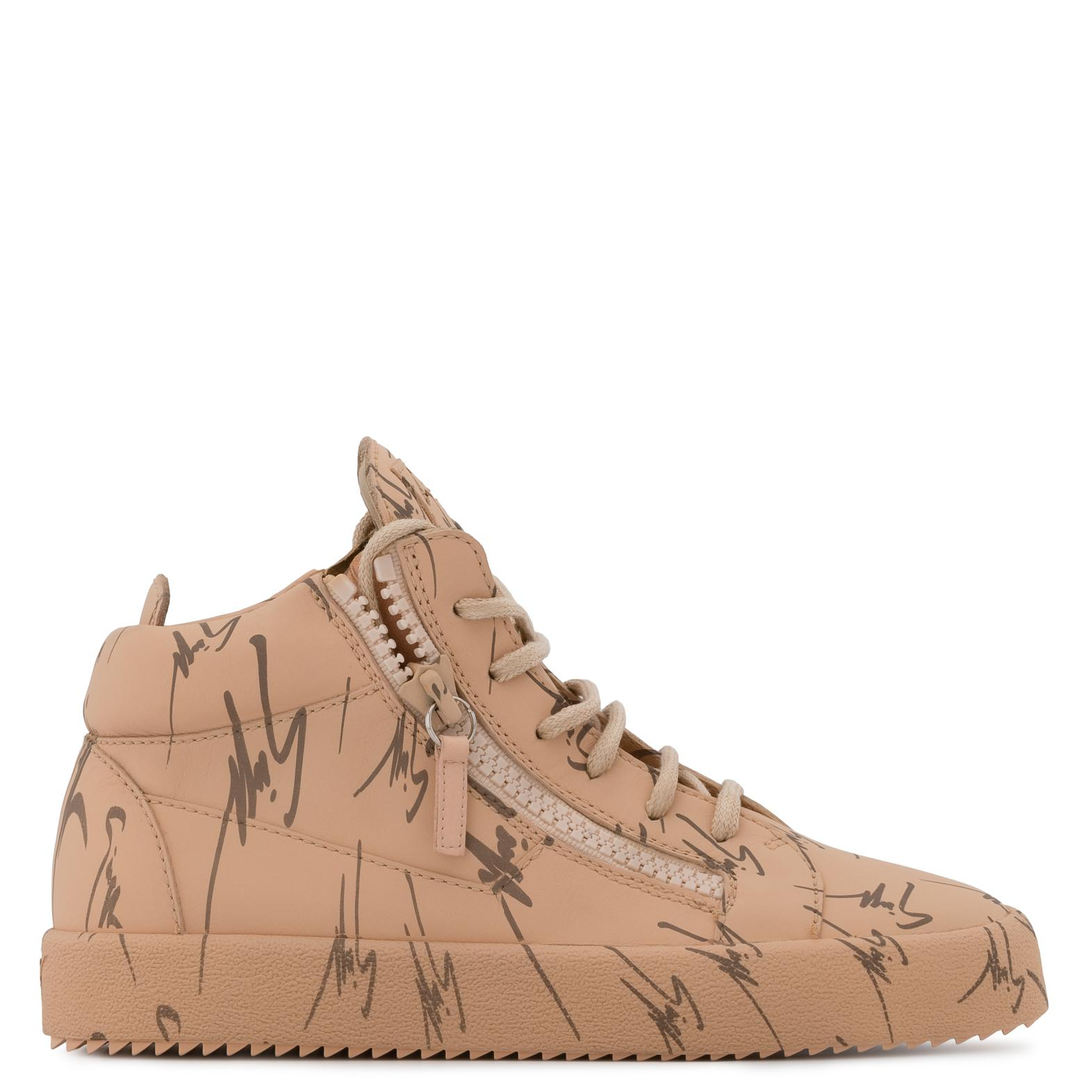 Giuseppe Zanotti Calfskin leather low-top sneaker with logo motif THE SIGNATURE S5HnXw