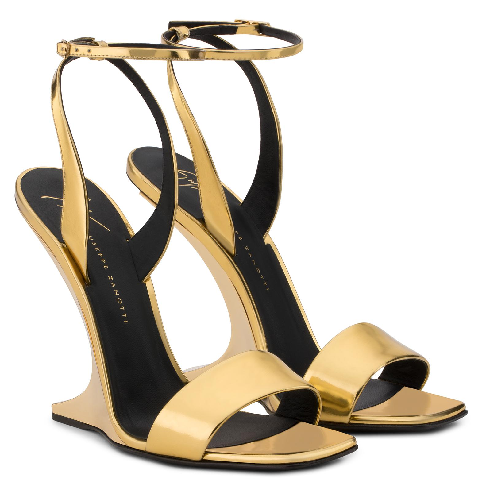 Giuseppe Zanotti Mirrored patent leather wedge PICARD Cheap Sale Discount UAJeH
