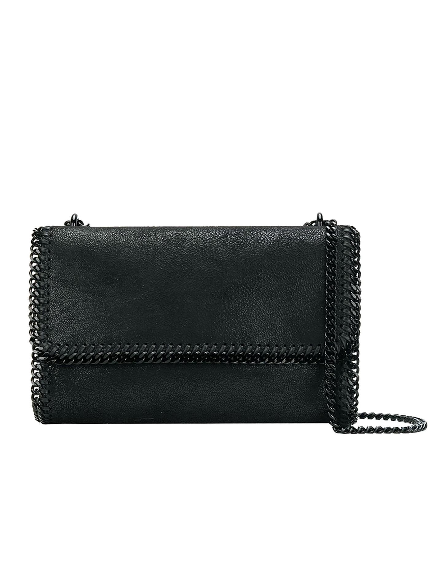 73a20952d99c Stella Mccartney Falabella Shaggy Deer Crossbody Bag in Black - Lyst