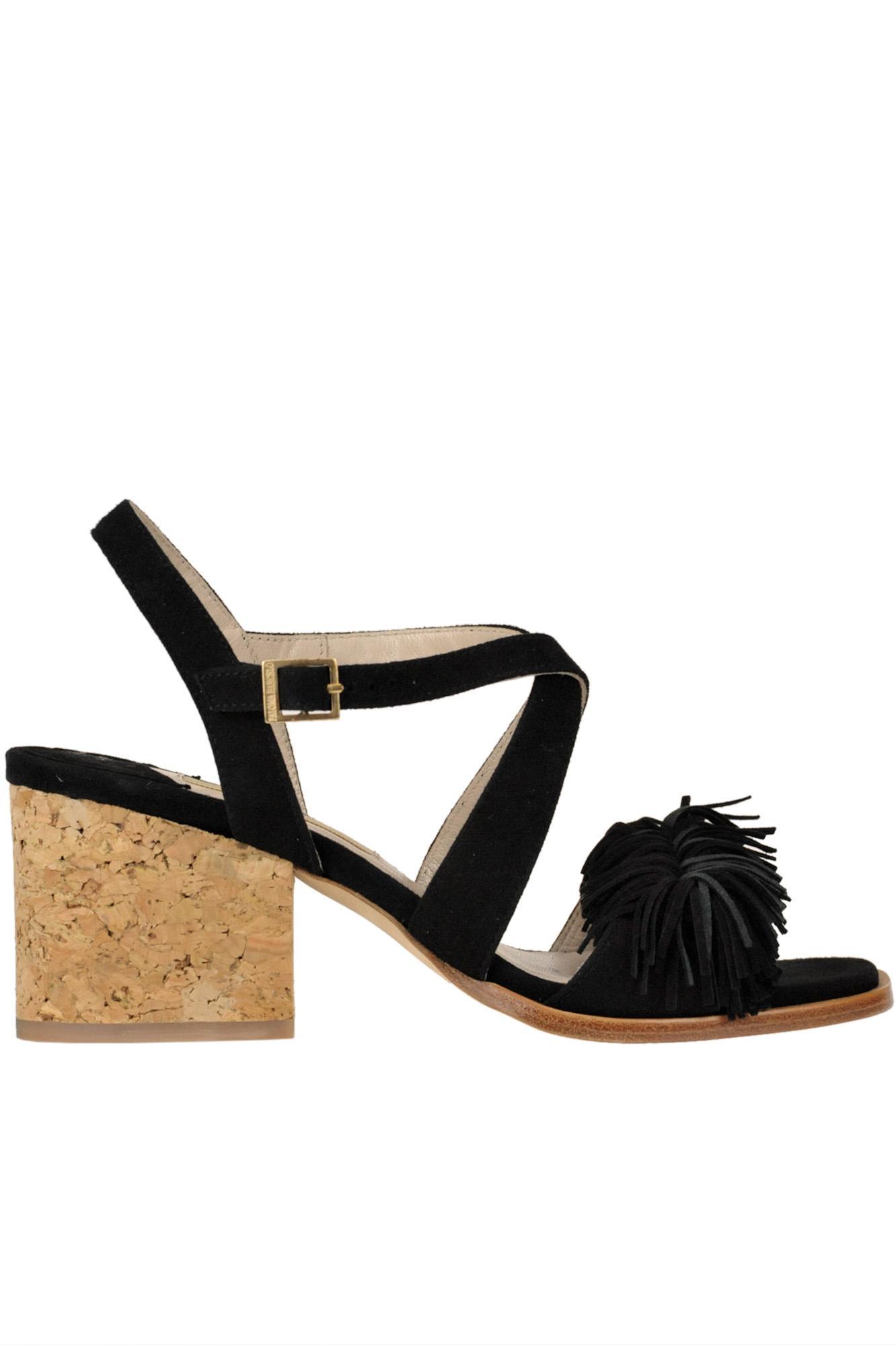 1730e6067abd Lyst - Paloma Barceló  neville  Suede Sandals in Black - Save 66%
