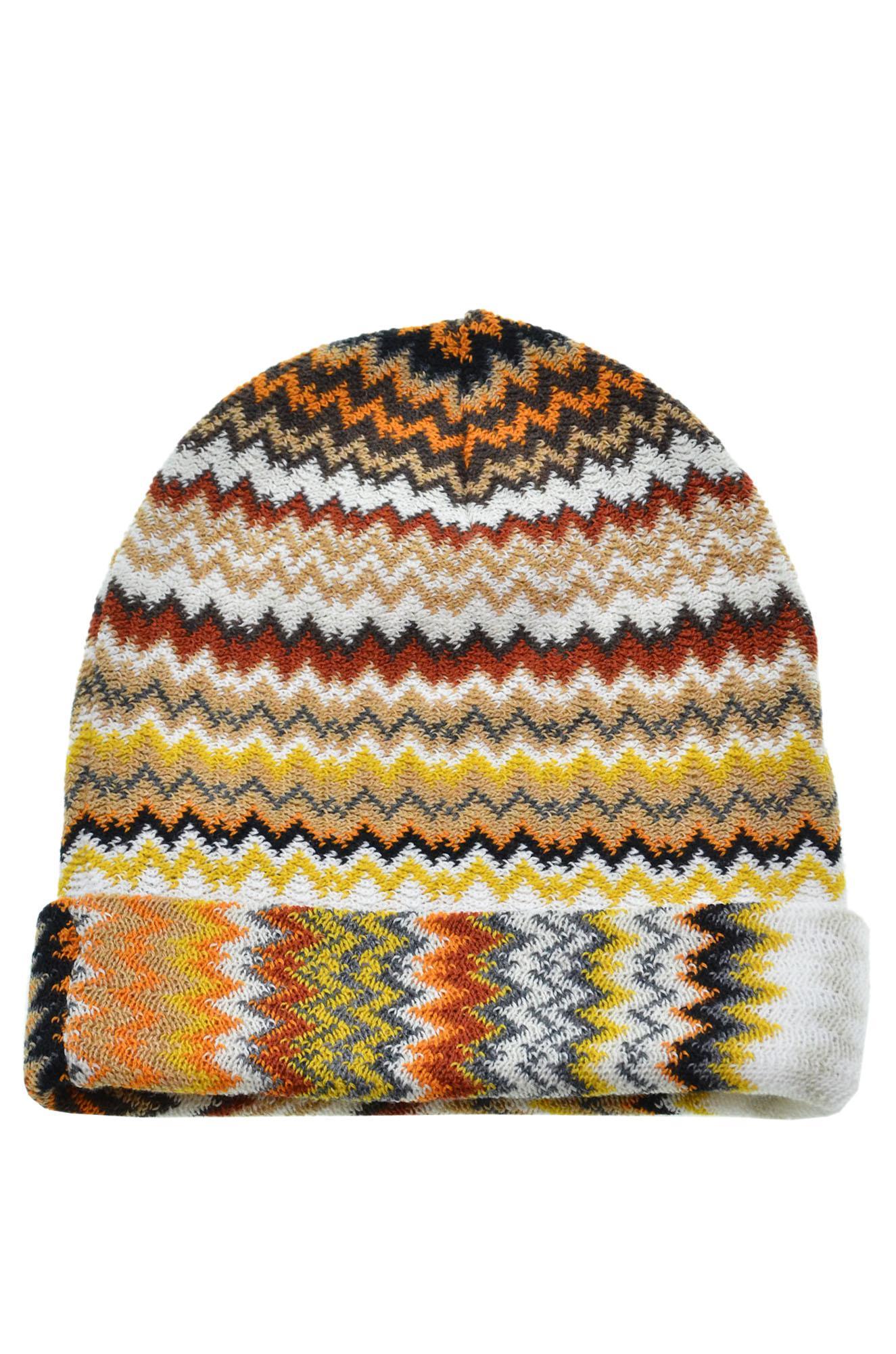 f4d8f75bec3 Missoni - Multicolor Knitted Beanie - Lyst. View fullscreen