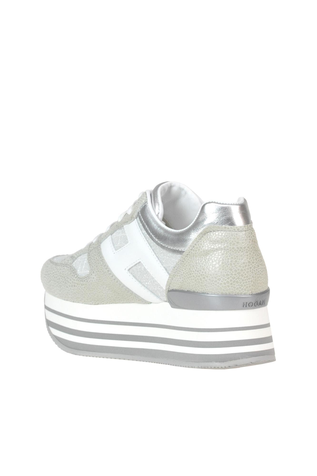 b810baf63a Hogan - Gray 'maxi 222' Wedge Sneakers - Lyst. View fullscreen